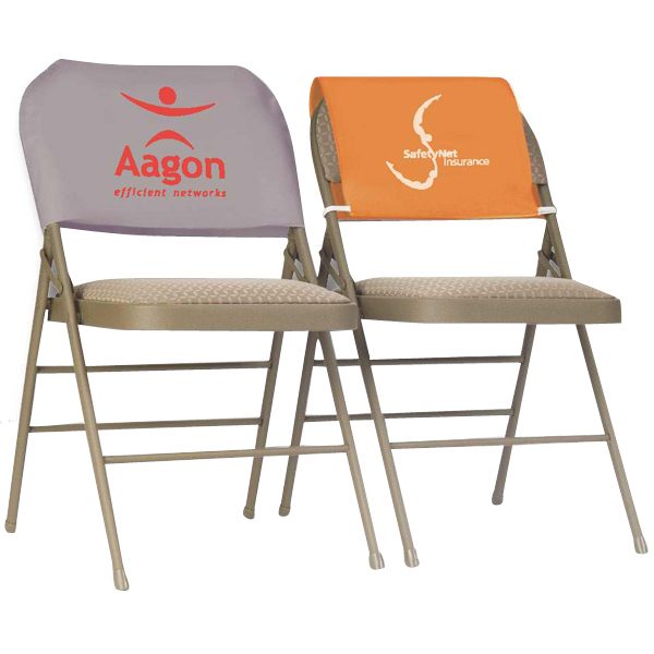 Exceptionnel Draped PVC Polyester Advertising Chair Headrest Cover