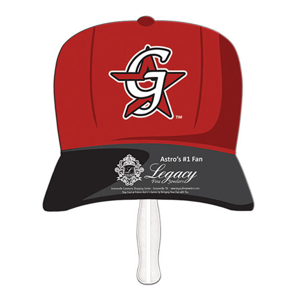 Baseball cap offset printed fan