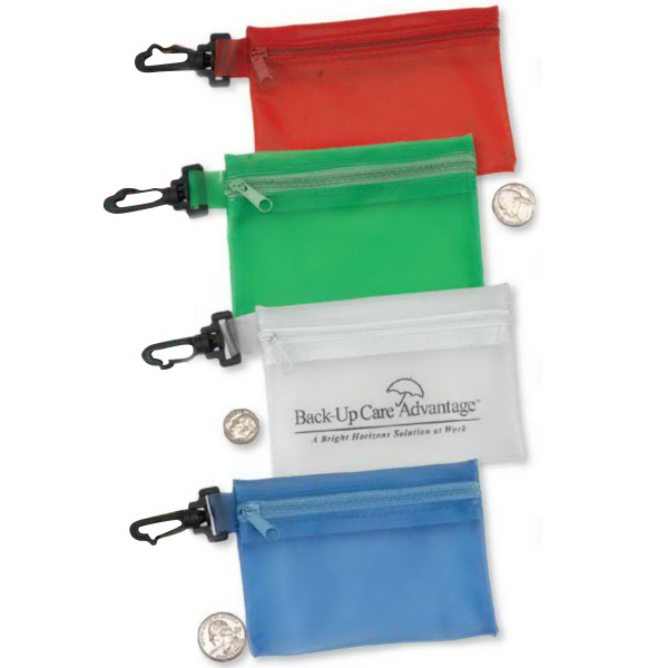 Mini Pouch/Coin Purse with Swivel Clip-Blank