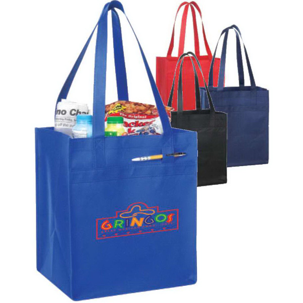 Non-Woven Tote with Fabric Covered Bottom