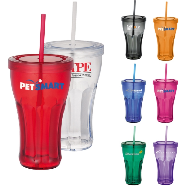 Fountain Soda 16-oz. Tumbler with Straw