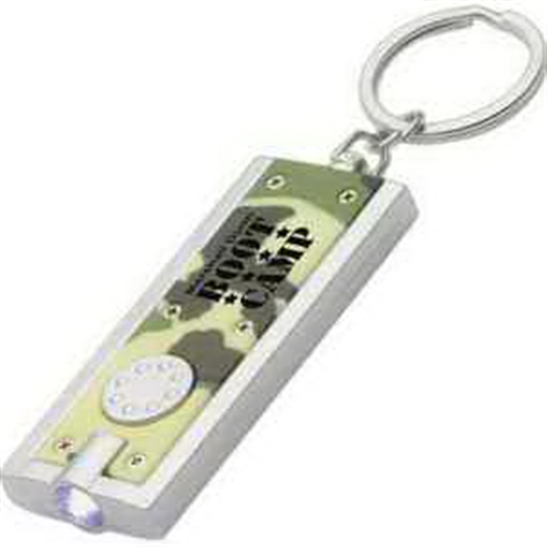 Simple Touch LED key chain in camouflage