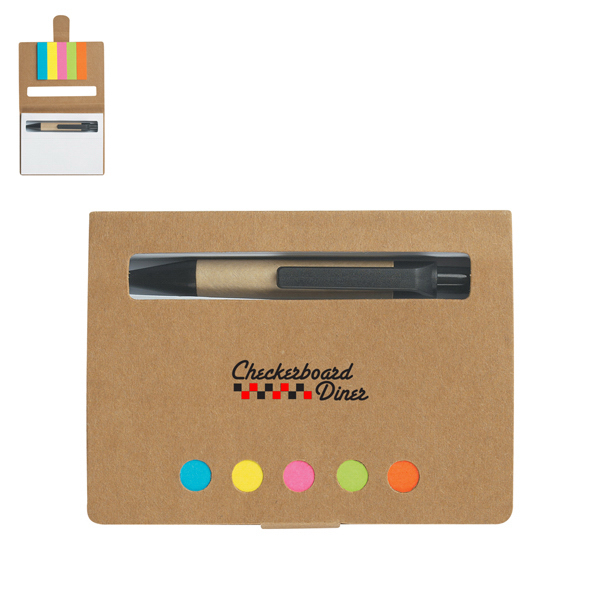 Discount Eco-Friendly Memo Case With Sticky Flags & Pen