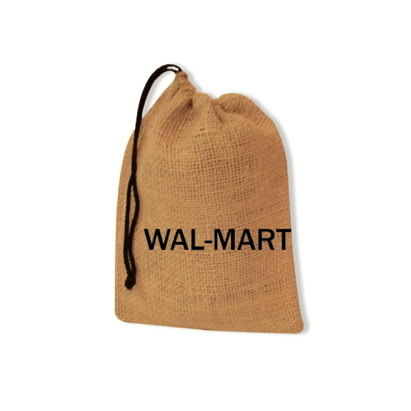"7"" x 9"" Natural Burlap Drawstring Bag"