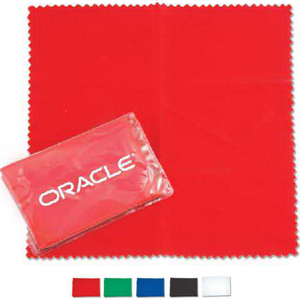 Microfiber cleaning cloth in clear case
