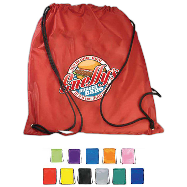 Nylon Drawstring Backpack- Full Color