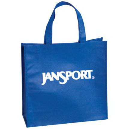 "Large Non Woven Tote with 18"" Straps 80 GSM"