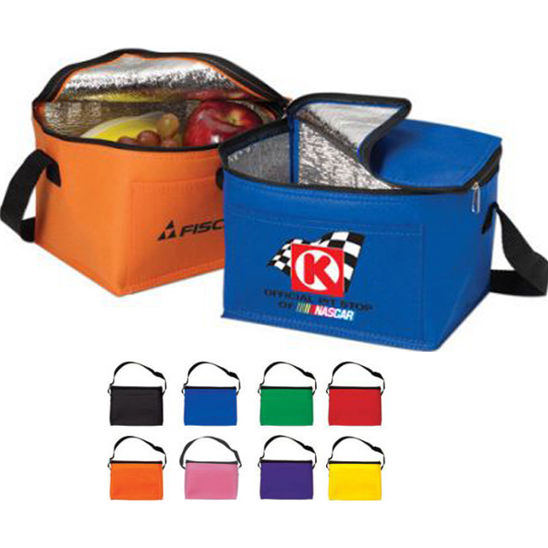 Non Woven Insulated six pack cooler- Full Color
