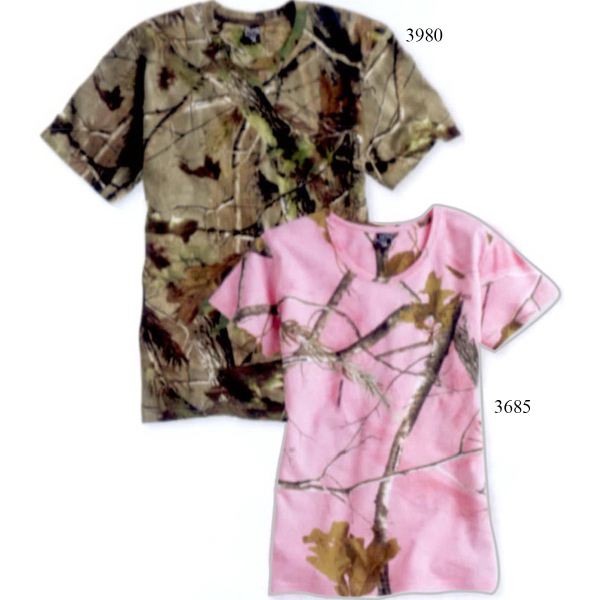 97595904 Code V Short Sleeve Realtree (R) Camouflage T-Shirt - GOimprints
