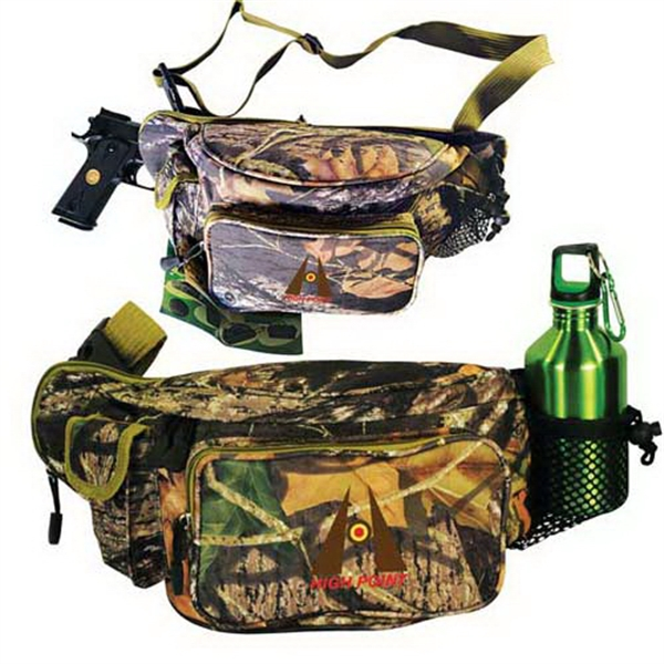 Mossy Oak (R) camo outdoor pack with gun compartment