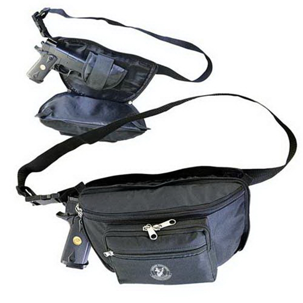 Waist pack with Q-access gun compartment