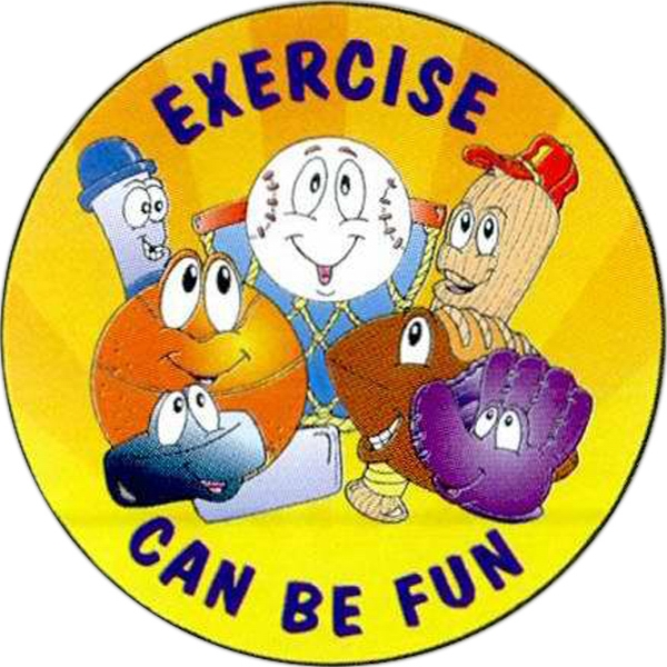 Exercise Can Be Fun Sticker Rolls