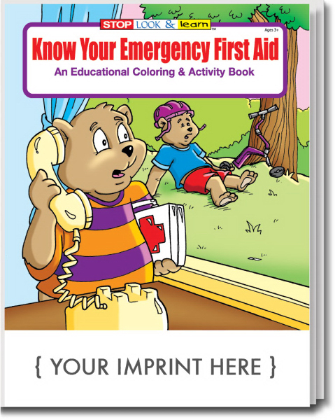 Know Your Emergency First Aid Coloring and Activity Book - GOimprints