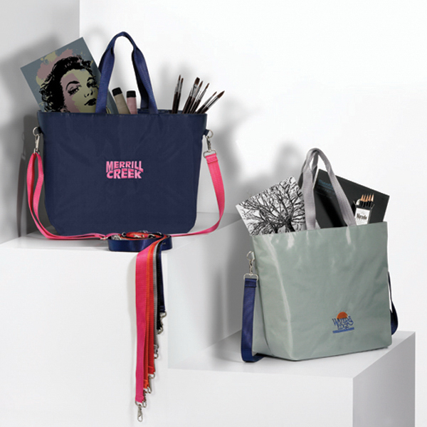 Color Pop Tote with Mix and Match Color Strap