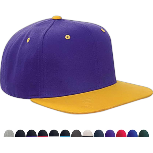 bf2446c705d9a Yupoong 6-panel structured flat visor classic snapback
