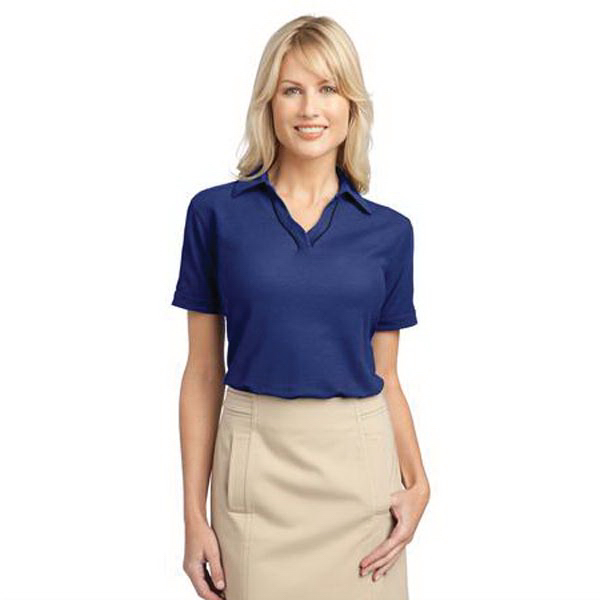 Port Authority (R) Ladies' Silk touch (TM) Piped Polo