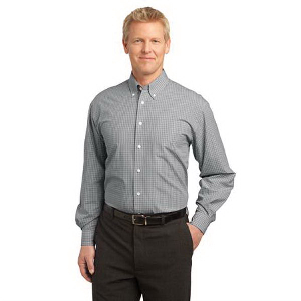Port Authority (R) Plaid Pattern Easy Care Shirt
