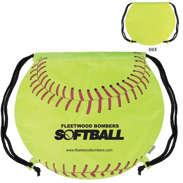 GameTime! (R) Softball Drawstring Backpack