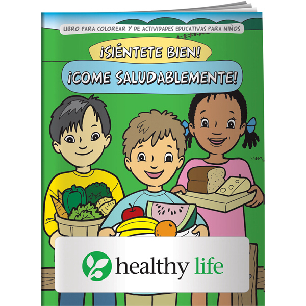 Coloring Book - Feel Good! Eat Healthy! (Spanish) - GOimprints