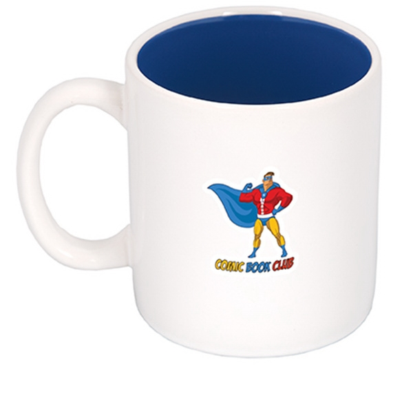 "Two-Tone ""C"" Handle Mug 450 ml (15 oz)"
