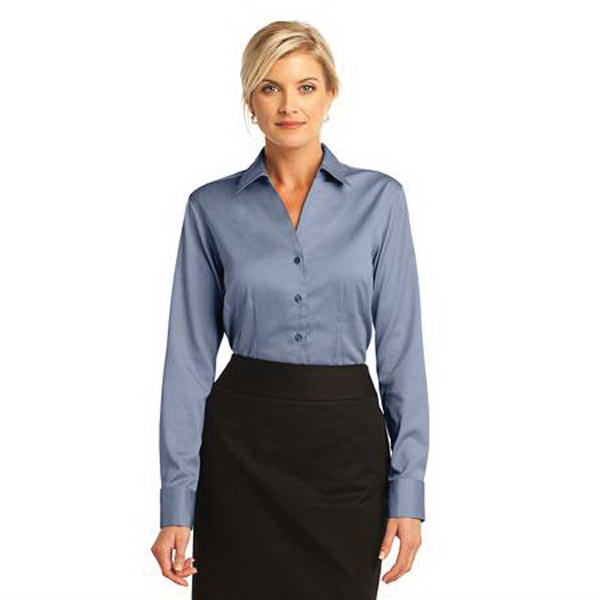 ecd2ff55b77 Red House (R) Ladies  French Cuff Non Iron Pinpoint Oxford