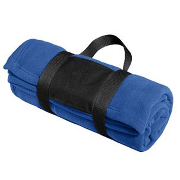 Port Authority (R) Fleece blanket with carrying strap