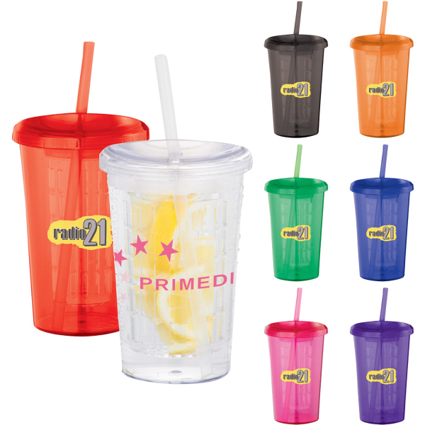 Tutti Frutti 20-oz Tumbler with Straw