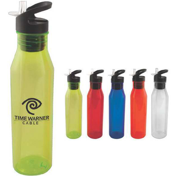 24 oz water bottle with flip top straw