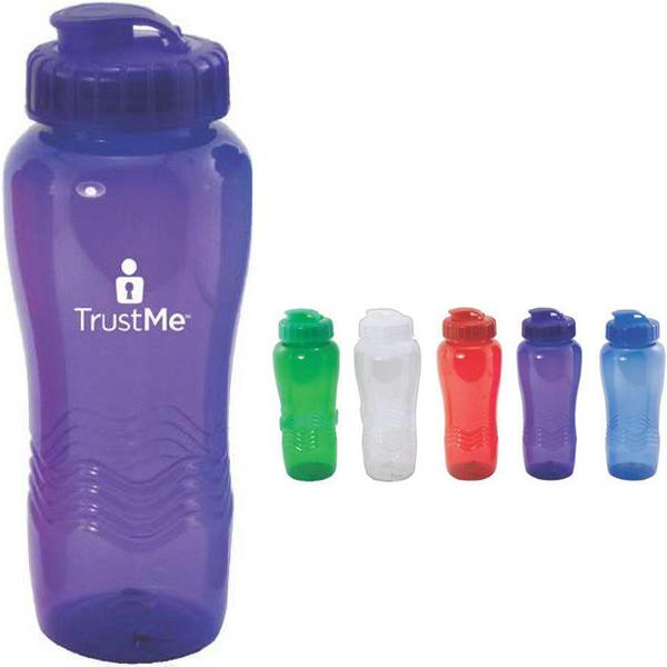 26 oz translucent water bottle with sipper lid