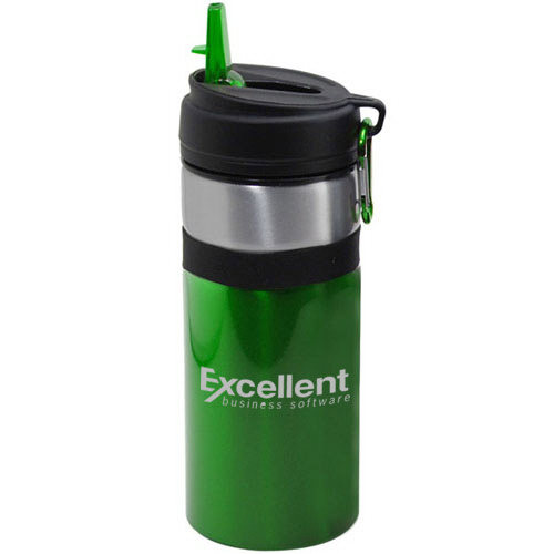 27 Oz Aluminum Water Bottle With Straw Amp Carabiner