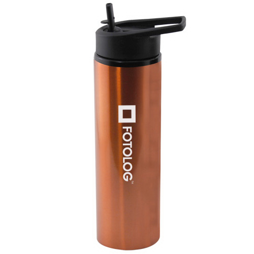 24 oz aluminum water bottle with sport cap