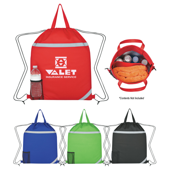 Discount Reflecto-Insulated Drawstring Backpack