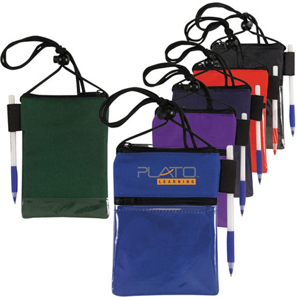 Dual Compartment Neck Wallet / Badge Holder