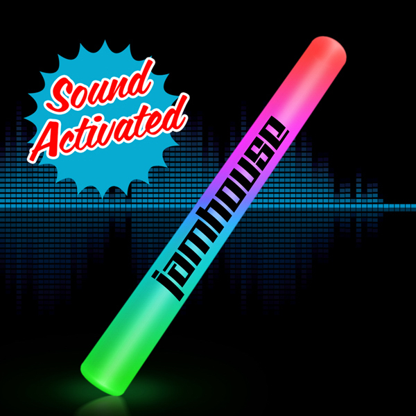 Custom Sound Activated Light Up Multicolor LED Cheer Stick