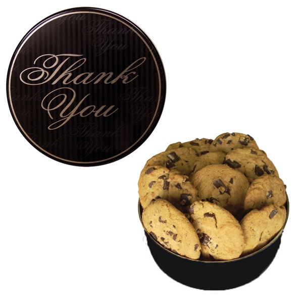 Christmas Tin Cookies.The Royal Cookie Christmas Tin Thank You Design Cookies