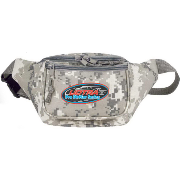 Poly Three-Zipper Camo Fanny Pack