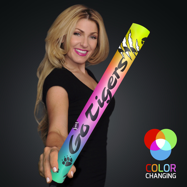 "Custom Fully Wrapped 16"" Multicolor LED Foam Cheer Stick"