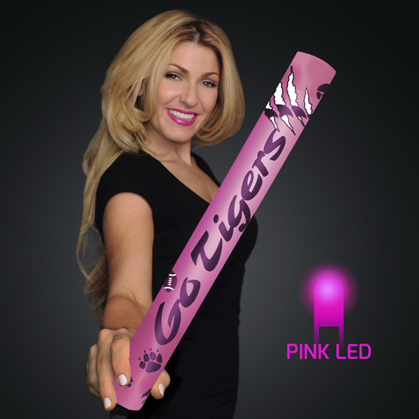 "Custom Fully Wrapped 16"" Pink LED Foam Cheer Stick"