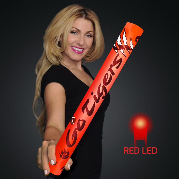 "Custom Fully Wrapped 16"" Red LED Foam Cheer Stick"