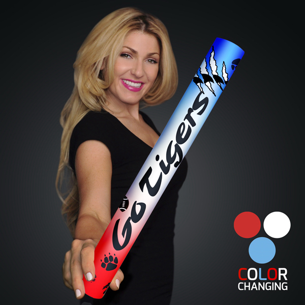 "Custom Fully Wrapped 16"" Red/White/Blue LED Foam Cheer Stick"