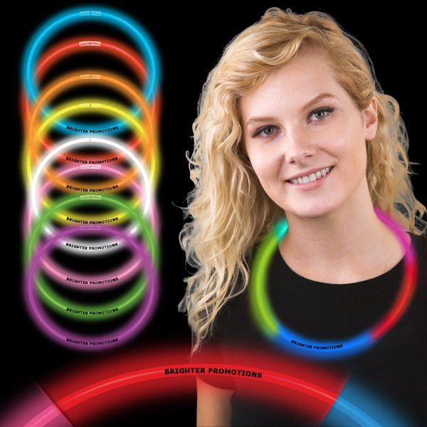 "22"" Rainbow Supreme 5 Color Glow Necklace"
