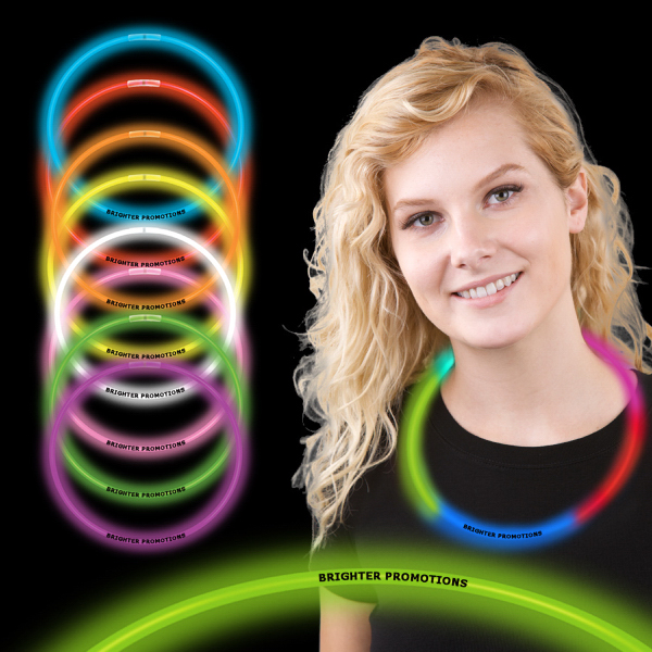 "22"" Superior Single Color Glow Necklace"