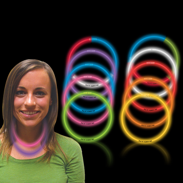 "Variety Pack 22"" Superior Single Color Glow Necklace"