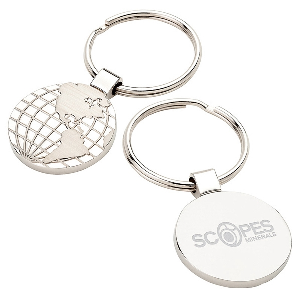 Spinning world keyring goimprints world map keyring gumiabroncs Image collections