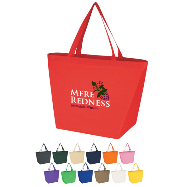 Discount Custom Non-Woven Budget Shopper Tote Bag