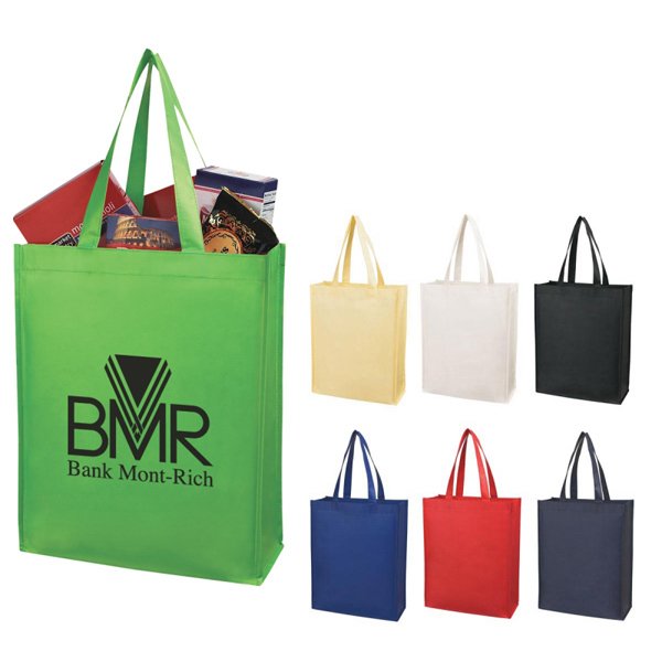 Discount Custom Matte Laminated Non-Woven Shopper Tote