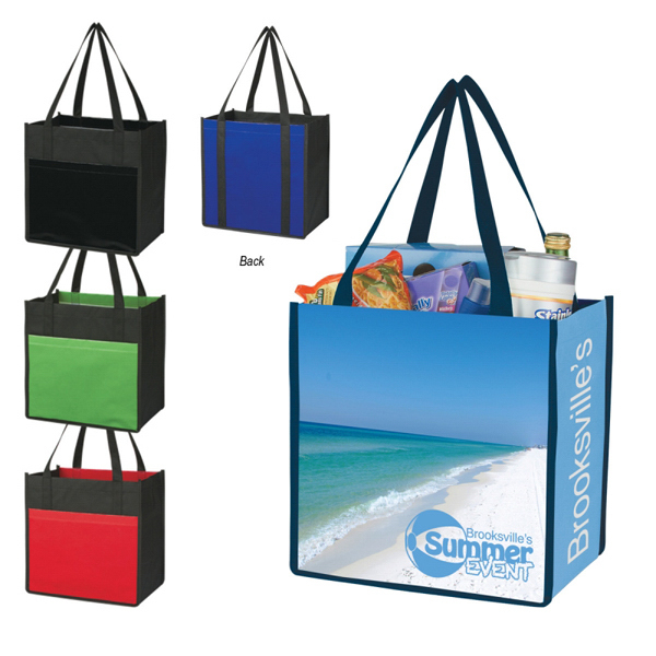 Laminated non woven large shopper tote goimprints for Custom laminations