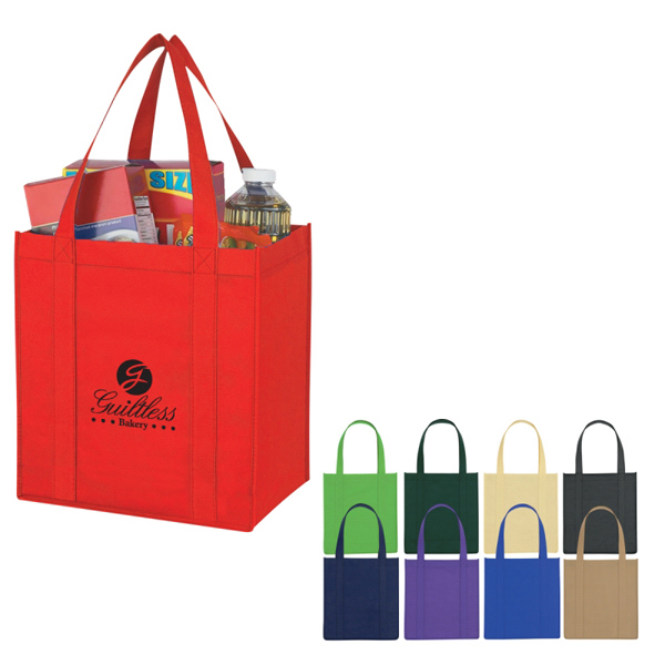Discount Custom Non-Woven Avenue Shopper Tote Bag