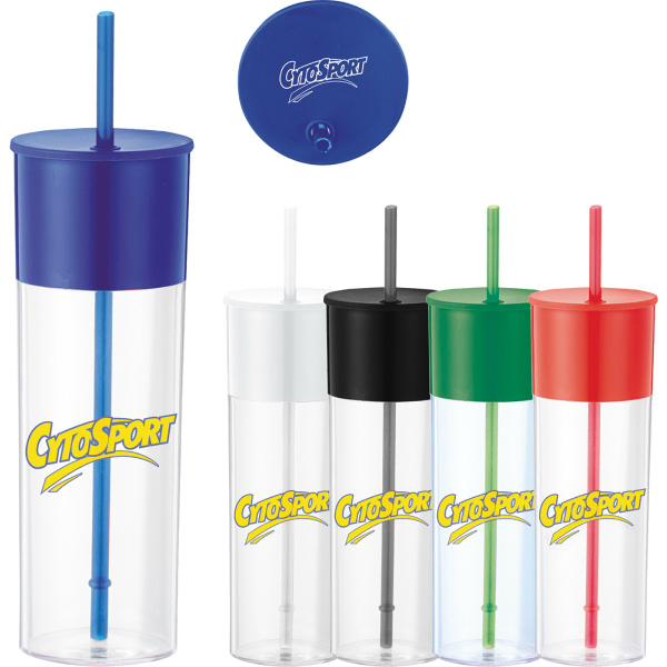 Color Band 22 oz. Tumbler with Straw