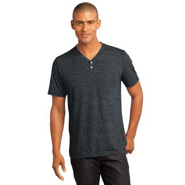 11bafcd91d9e District Made (TM) Men's Tri-Blend Short Sleeve Henley Tee - GOimprints